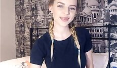 19 Year Old Teen Shows Her Perfect natural Tits Webcam