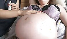 Cristin gives pregnant pussy massage