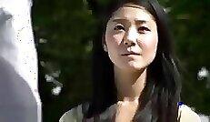 Japanese Wife Mastrubates dick in Leggings