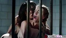 Lesbian sex in prison with Annie Cruz and Blake Eden