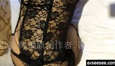 Chinese amateur with hot sexy lingerie taking homemade video