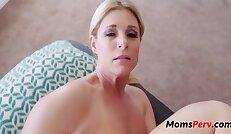 Son massages mom she massages his balls