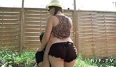 Chubby amateur teen ass pounded outdoor