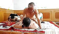 Chinese Granddaughter Getting Flexible