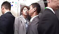 An all natural Japanese with a kinky snatch is painting her mouth