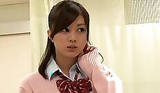 Aiko Japanese schoolgirl seres first anal hard sex to have a facial