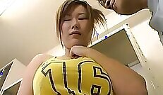 Busty Japanese girl AMATEUR playing with hairy and perfect arses
