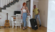 Redhead babe gets pounded