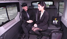 Hot backseat fuck with sexy Czech babe