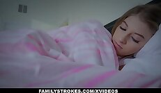 FamilyStrokes Cuddling and Fucking Scared Stepdaughter While Wife Sleeps