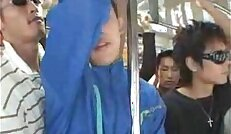 japan student on the bus