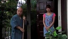 japanese Teen girl fucks old man